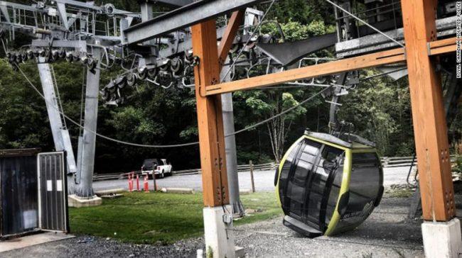 加拿大景区缆车电缆被切断 30多架缆车从高空坠地插图