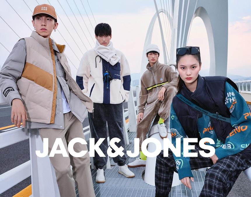 "JACK & JONES杰克琼斯发布 2021冬季""Urban Waves城市浪潮""时尚大片插图"